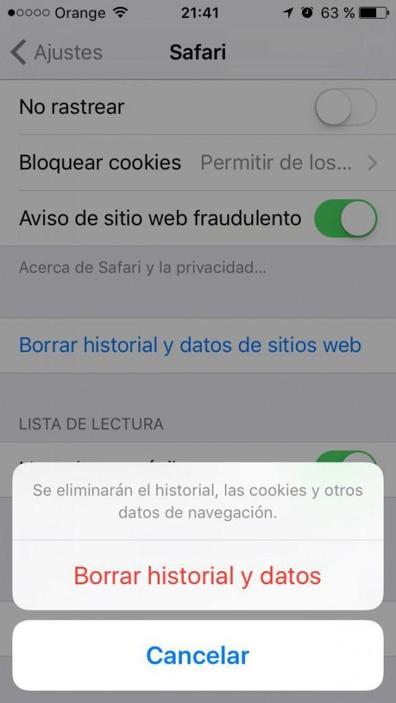 Como borrar el historial, la cache y las cookies, y navegar de forma privada en Safari en el iPhone - 图像 4 - 教授-falken.com