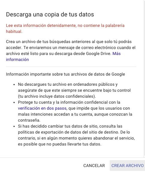 Comment faire pour télécharger votre historique des recherches sur Google - Image 3 -Professor-falken.com