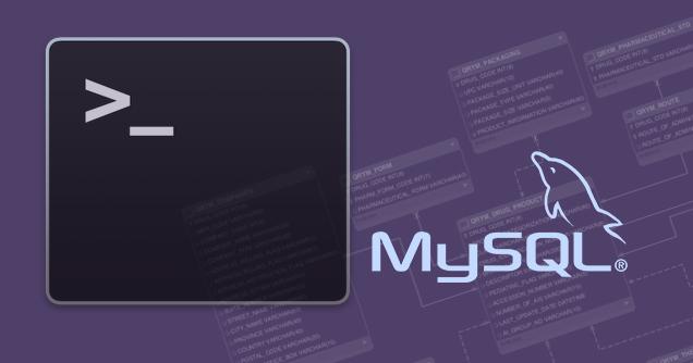 एक MySQL डेटाबेस कमांड लाइन से निकालने के लिए कैसे - प्रोफेसर-falken.com