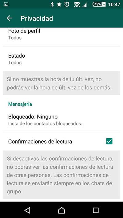 如何读取 WhatsApp 的消息,不知道它的发件人. 禁用双蓝色检查 - 图像 2 - 教授-falken.com