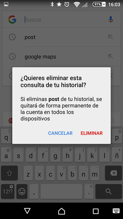 Comment supprimer vos récentes recherches sur Google sur votre téléphone mobile Android - Image 3 - Professor-falken.com