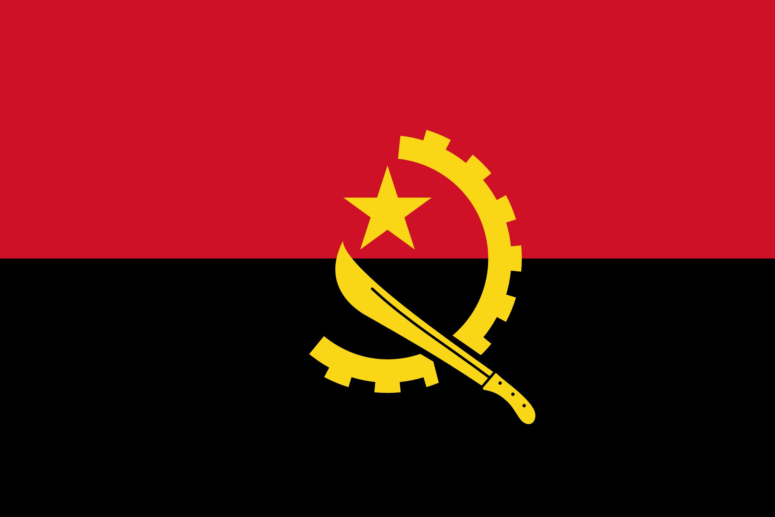 Angola, país, Brasão de armas, logotipo, símbolo - Papéis de parede HD - Professor-falken.com