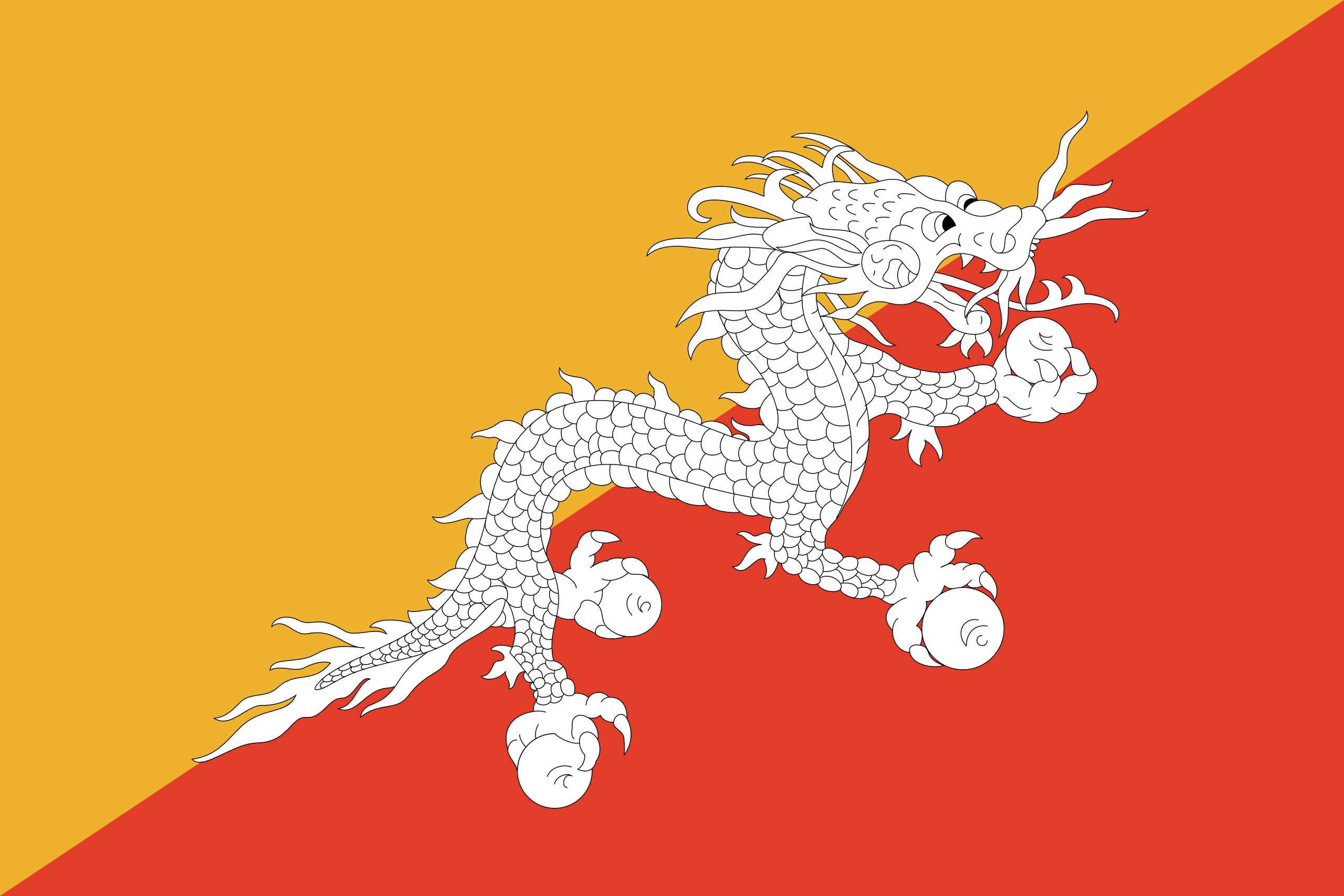 Butão, país, Brasão de armas, logotipo, símbolo - Papéis de parede HD - Professor-falken.com