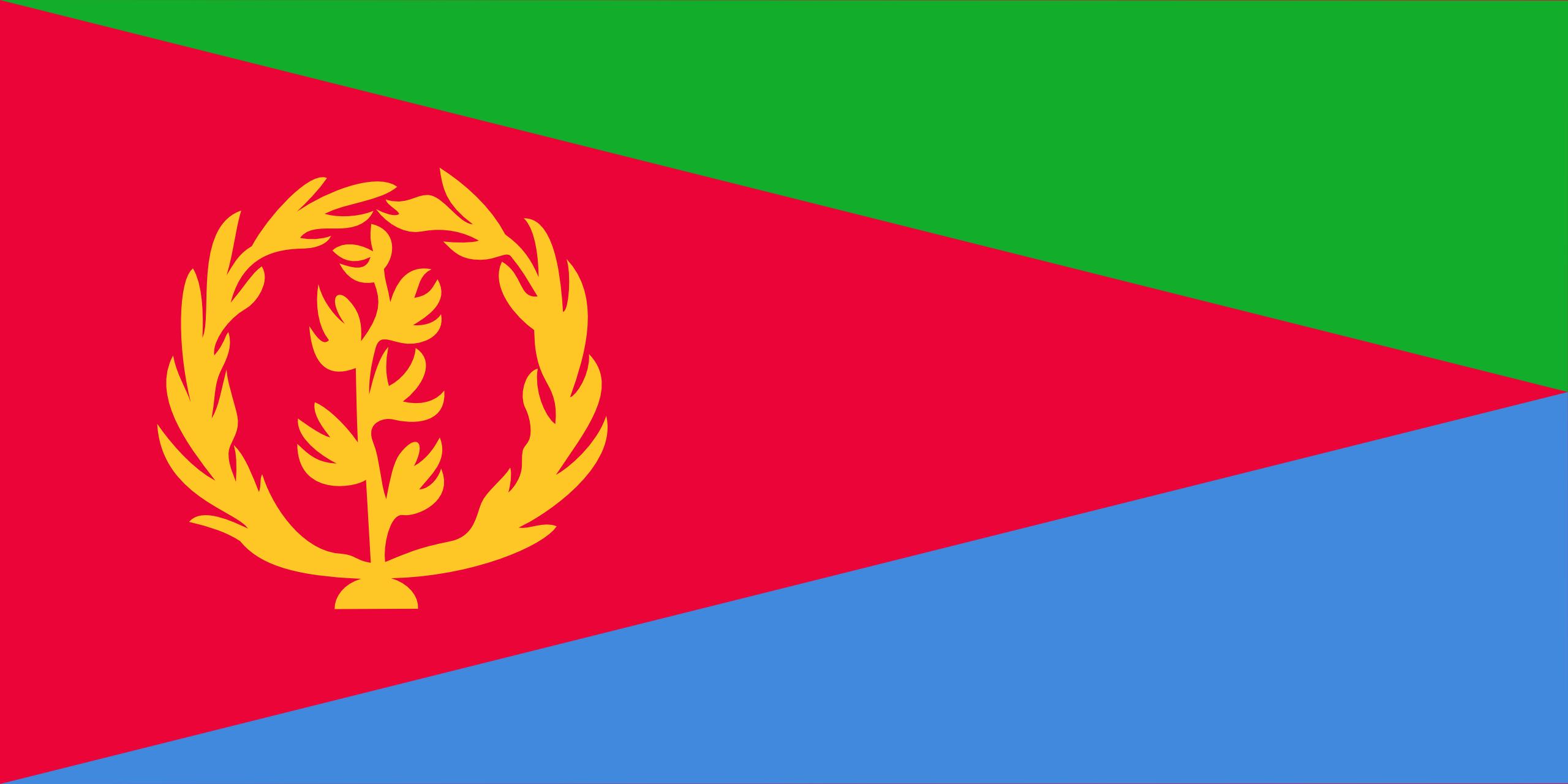 L'Érythrée, pays, emblème, logo, symbole - Fonds d'écran HD - Professor-falken.com