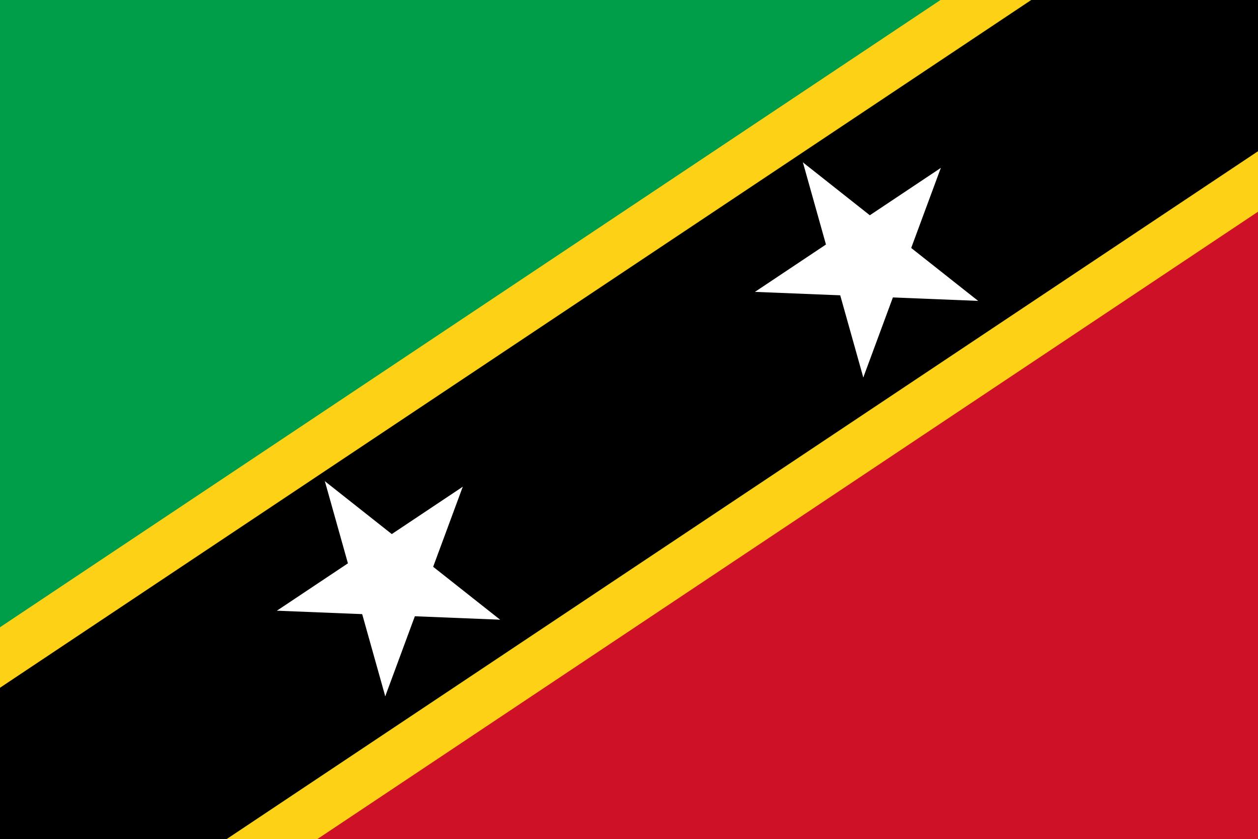 São Cristóvão e Nevis, país, Brasão de armas, logotipo, símbolo - Papéis de parede HD - Professor-falken.com
