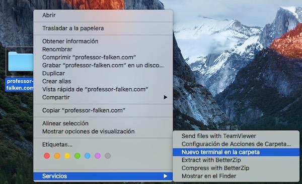 Cómo abrir una ventana de Terminal desde cualquier carpeta del Entorno Gráfico de tu Mac - Image 3 - professor-falken.com