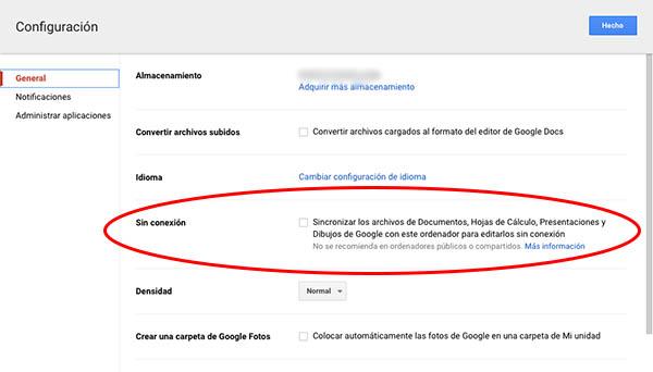 Comment faire pour activer la synchronisation de fichiers de Google de les modifier en mode hors connexion - Image 3 - Professor-falken.com