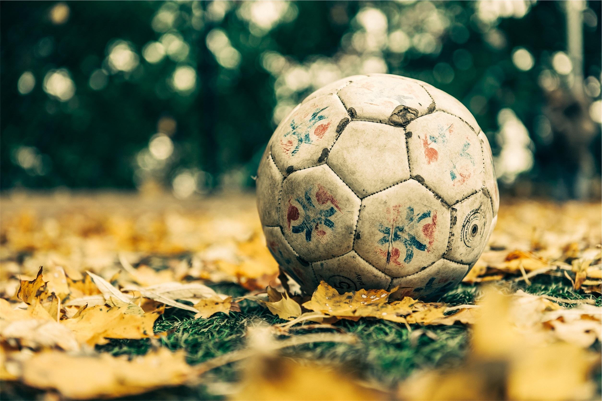 Ballon, Fußball, Blätter, Rasen, Grass, Kugel - Wallpaper HD - Prof.-falken.com