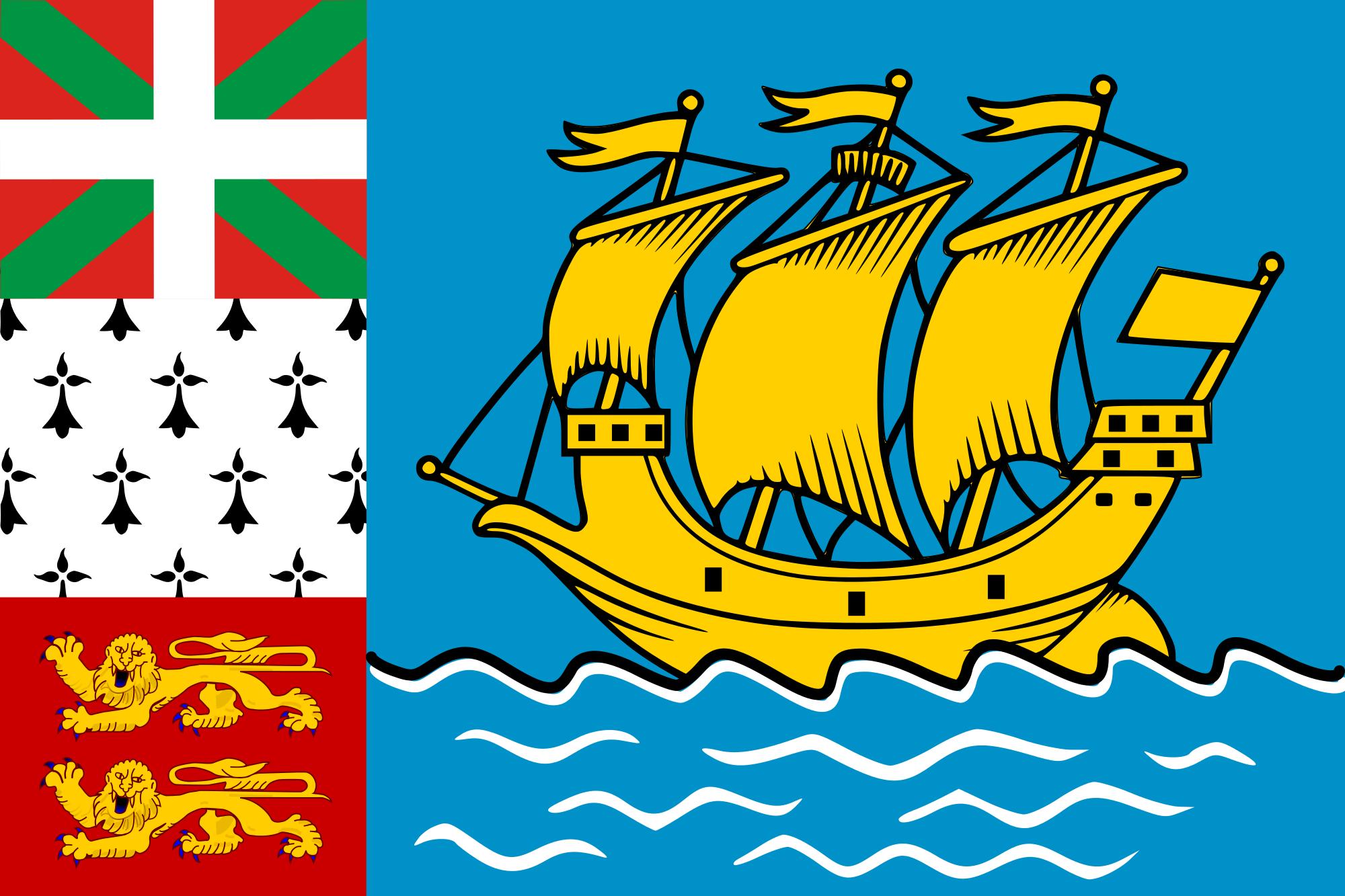Saint Pierre e miquelon, país, Brasão de armas, logotipo, símbolo - Papéis de parede HD - Professor-falken.com