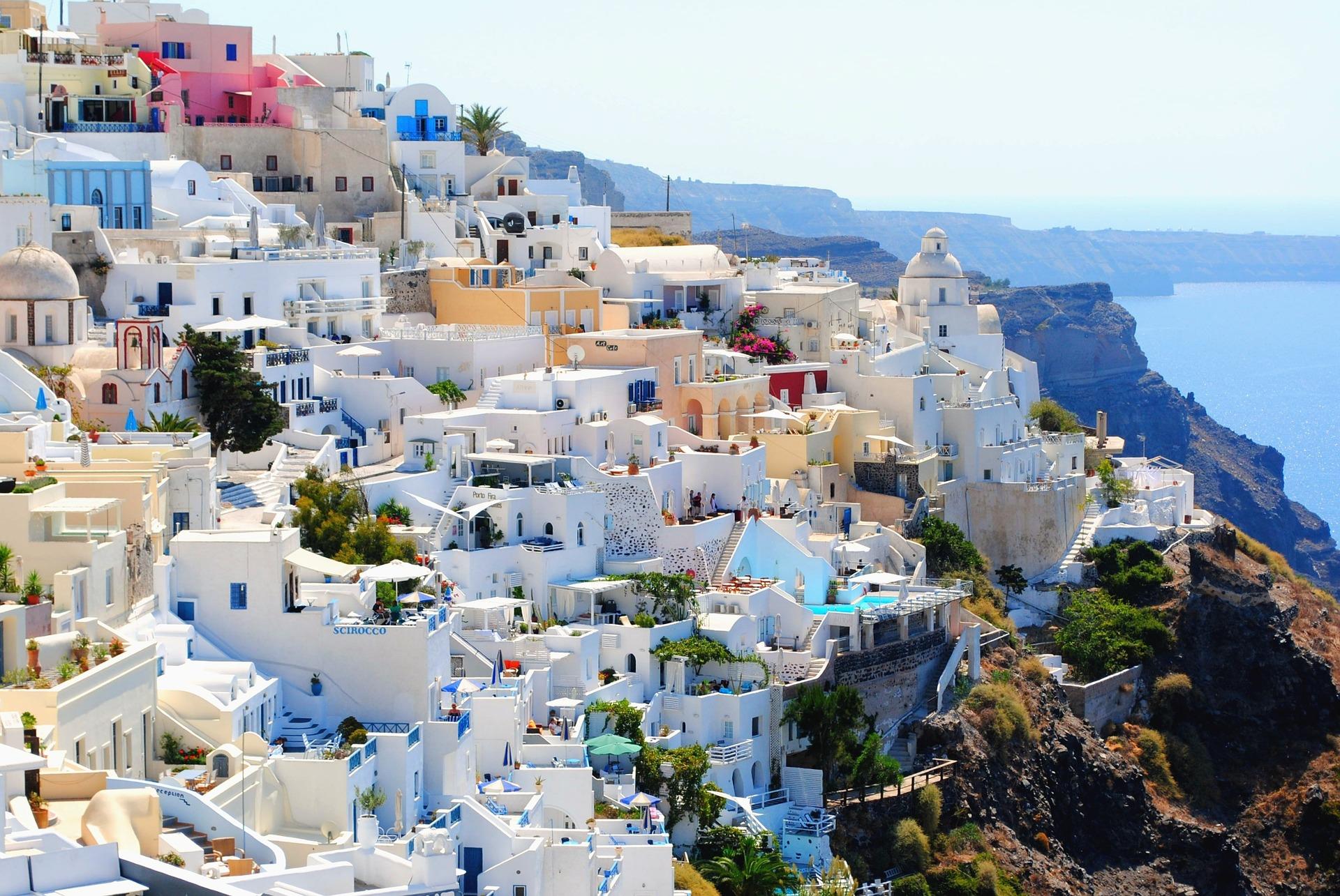 Santorini, Grécia, viagens, férias, Verão, vila, Mar, Céu, Fuga tela HD wallpapers - Professor-falken.com