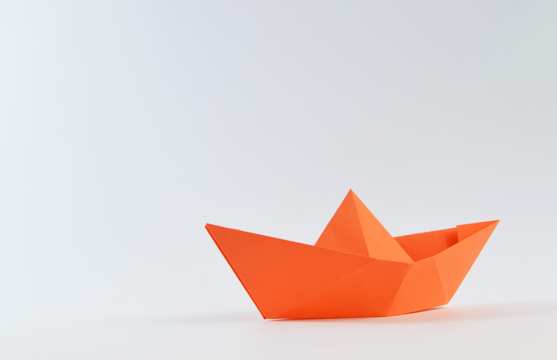 barco, papel, minimalista, origami, Laranja - Papéis de parede HD - Professor-falken.com