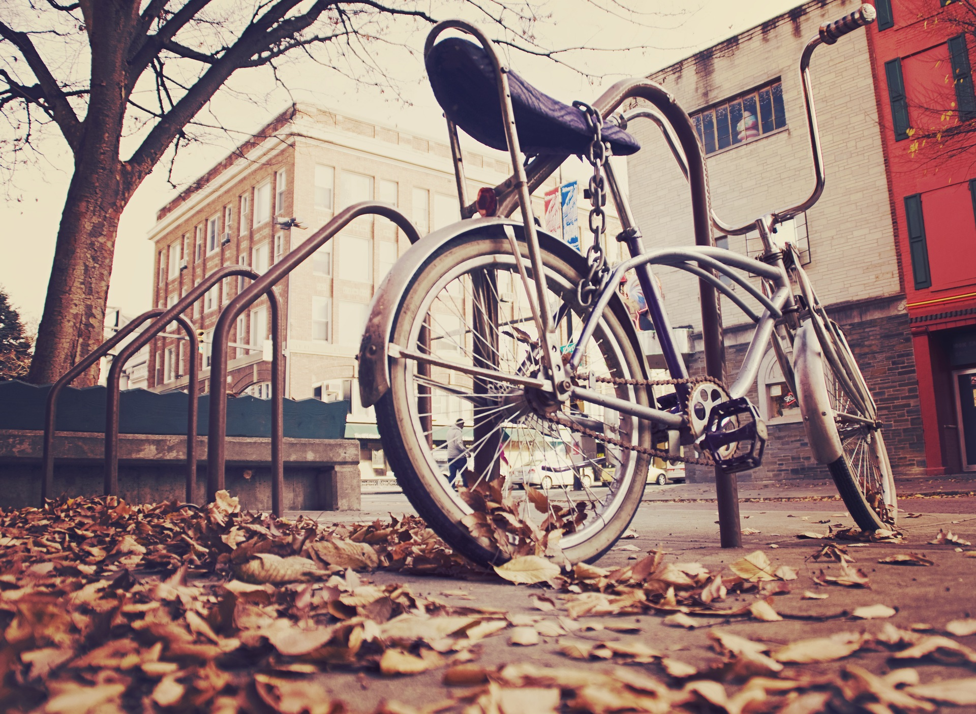 bicicleta, antigua, vintage, cadena, hojas - Fondos de Pantalla HD - professor-falken.com