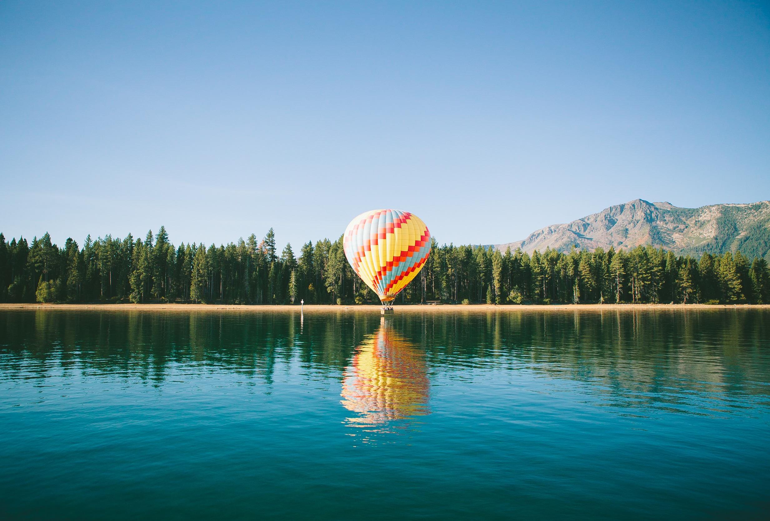 ballon à air, Lake, Forest, Pin, montagnes, Sky - Fonds d'écran HD - Professor-falken.com
