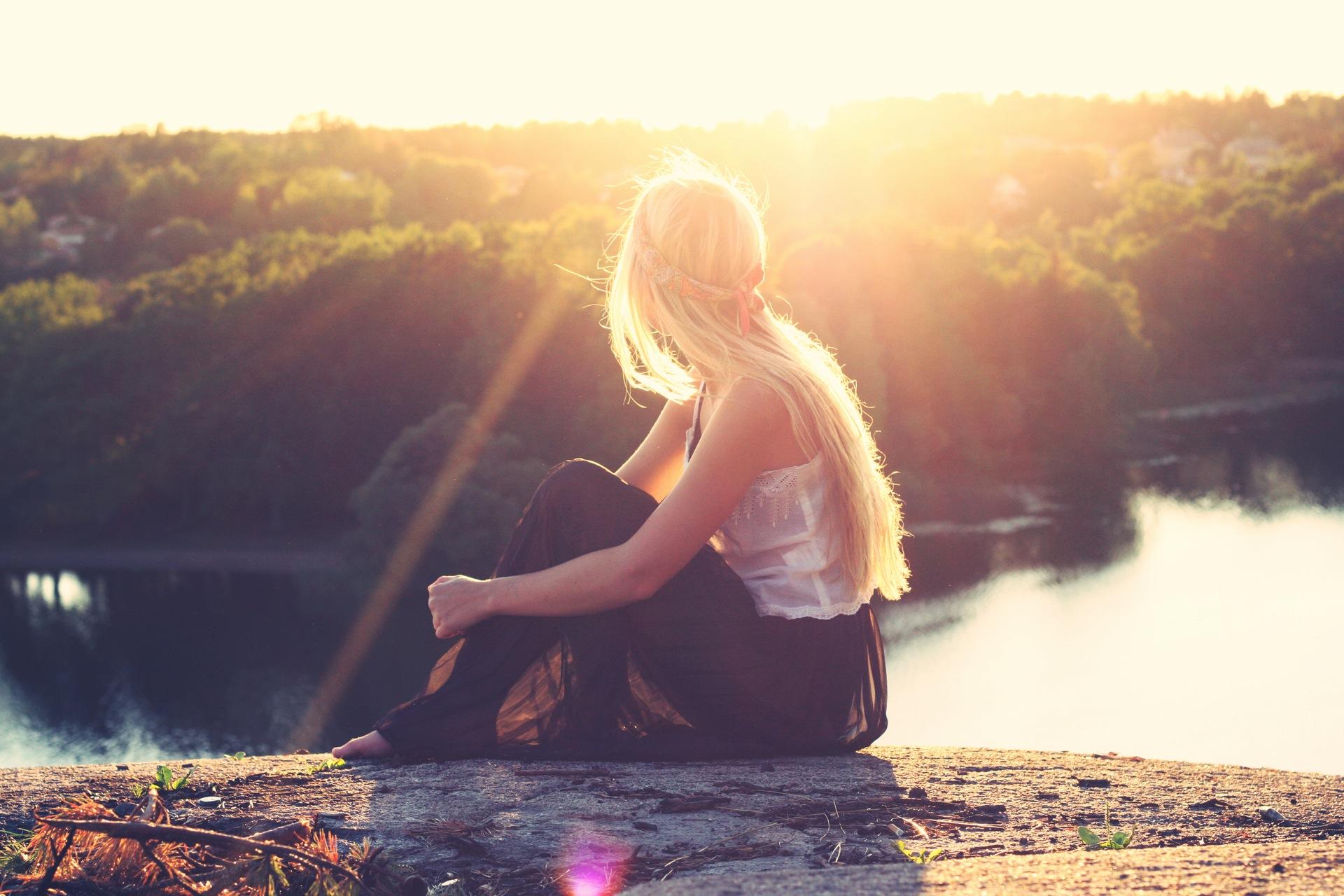 सेट करता है, महिला, रुबिया, नदी, सूर्य, आरामदायक - HD वॉलपेपर - प्रोफेसर-falken.com