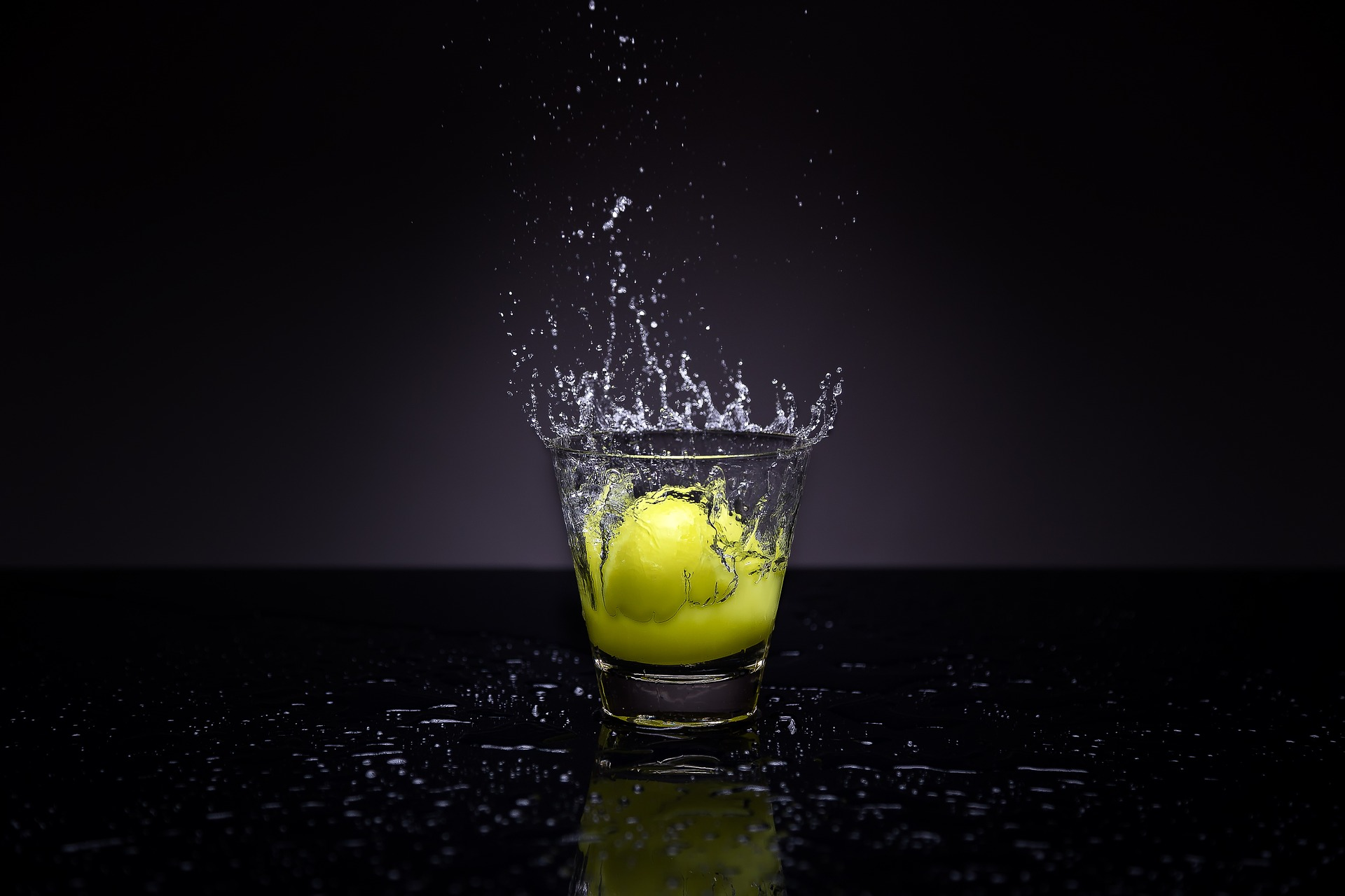 agua, vaso, limón, gotas, salpicadura - Fondos de Pantalla HD - professor-falken.com