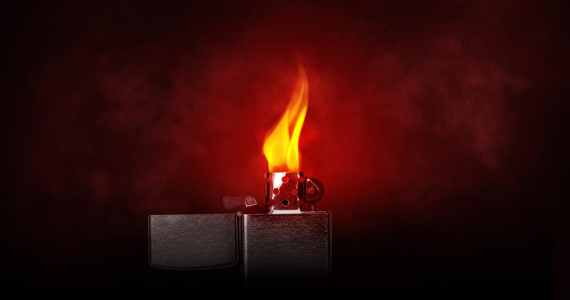 легче, Зажигалка, называется, огонь, жара, Zippo - Обои HD - Профессор falken.com
