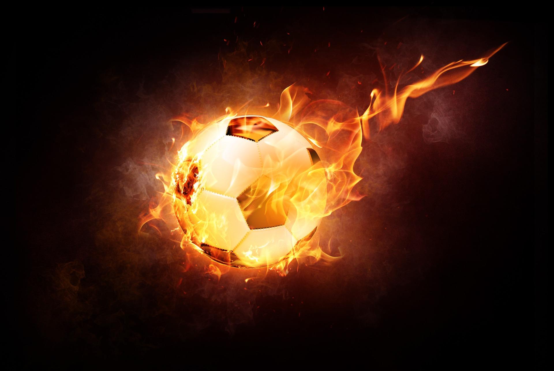 Futebol, balão, fogo, Tirão, flama - Papéis de parede HD - Professor-falken.com