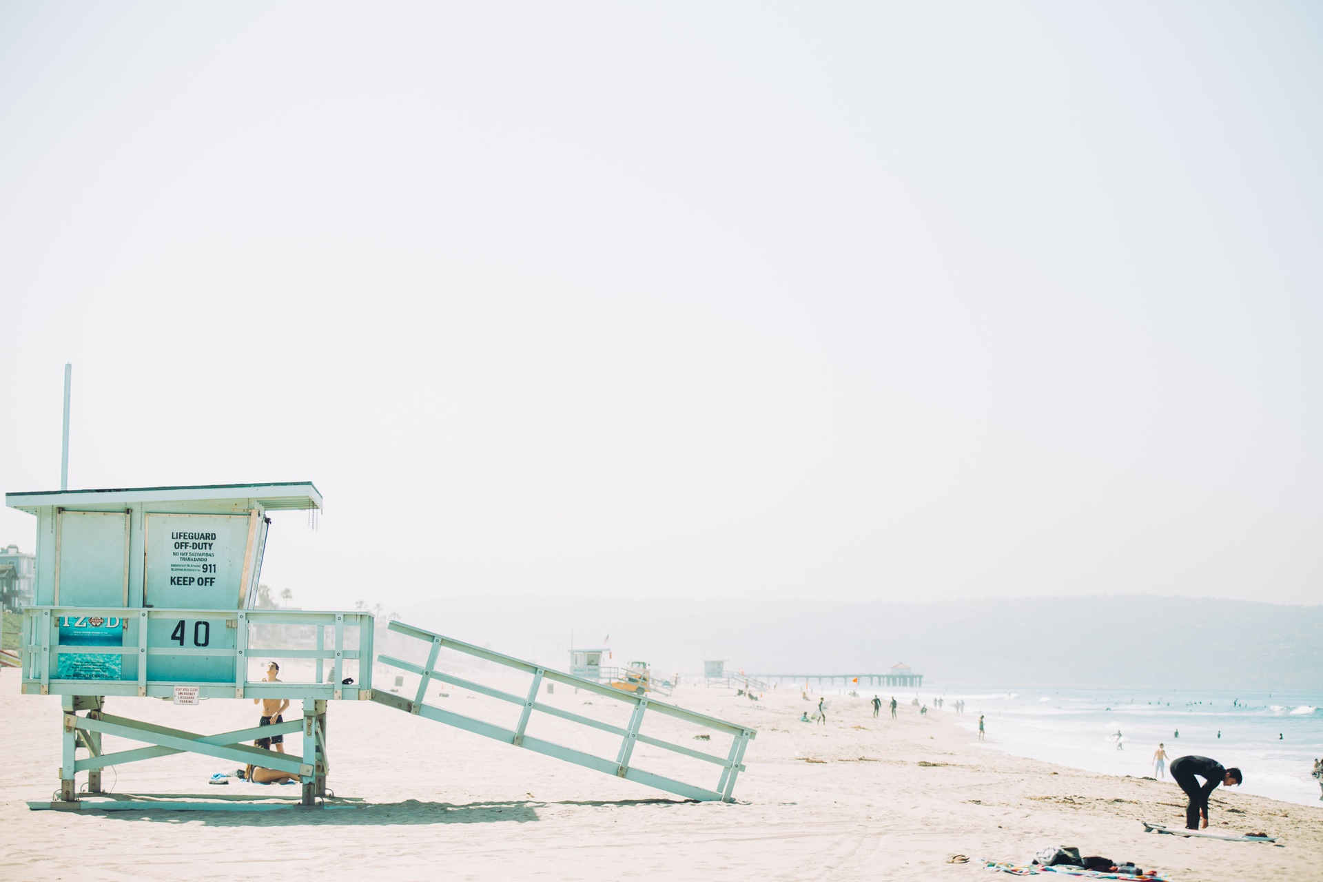 playa, arena, vigilante, torre, salvavidas, mar - Fondos de Pantalla HD - professor-falken.com