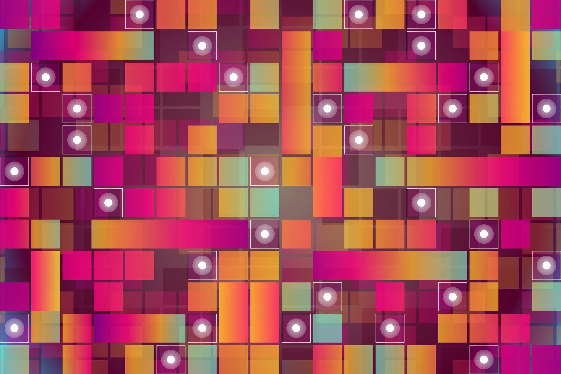 Praça, pontos, círculos, Formas, Rosa - Papéis de parede HD - Professor-falken.com