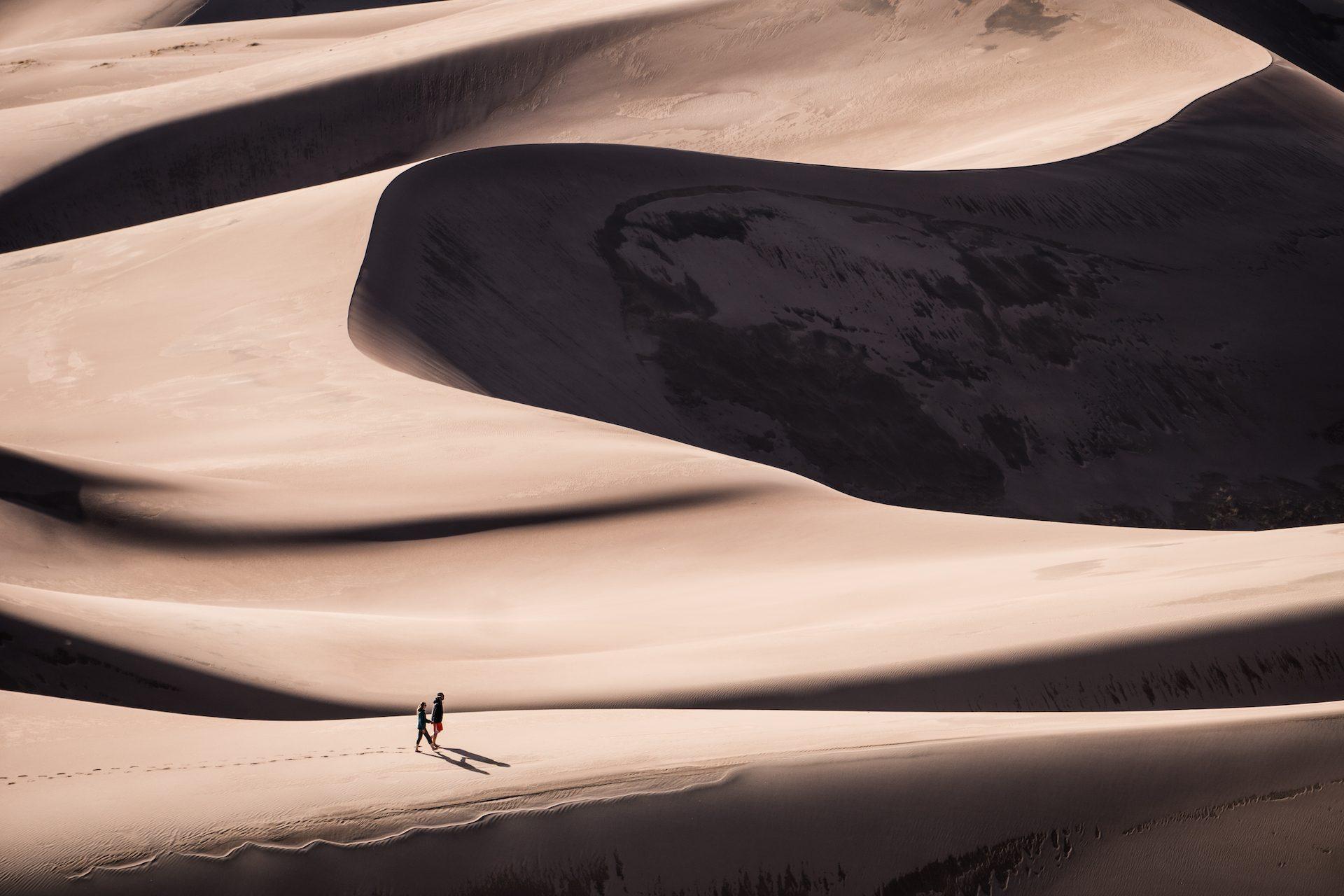 пустыня, песок, пара, дюны, Соледад - Обои HD - Профессор falken.com