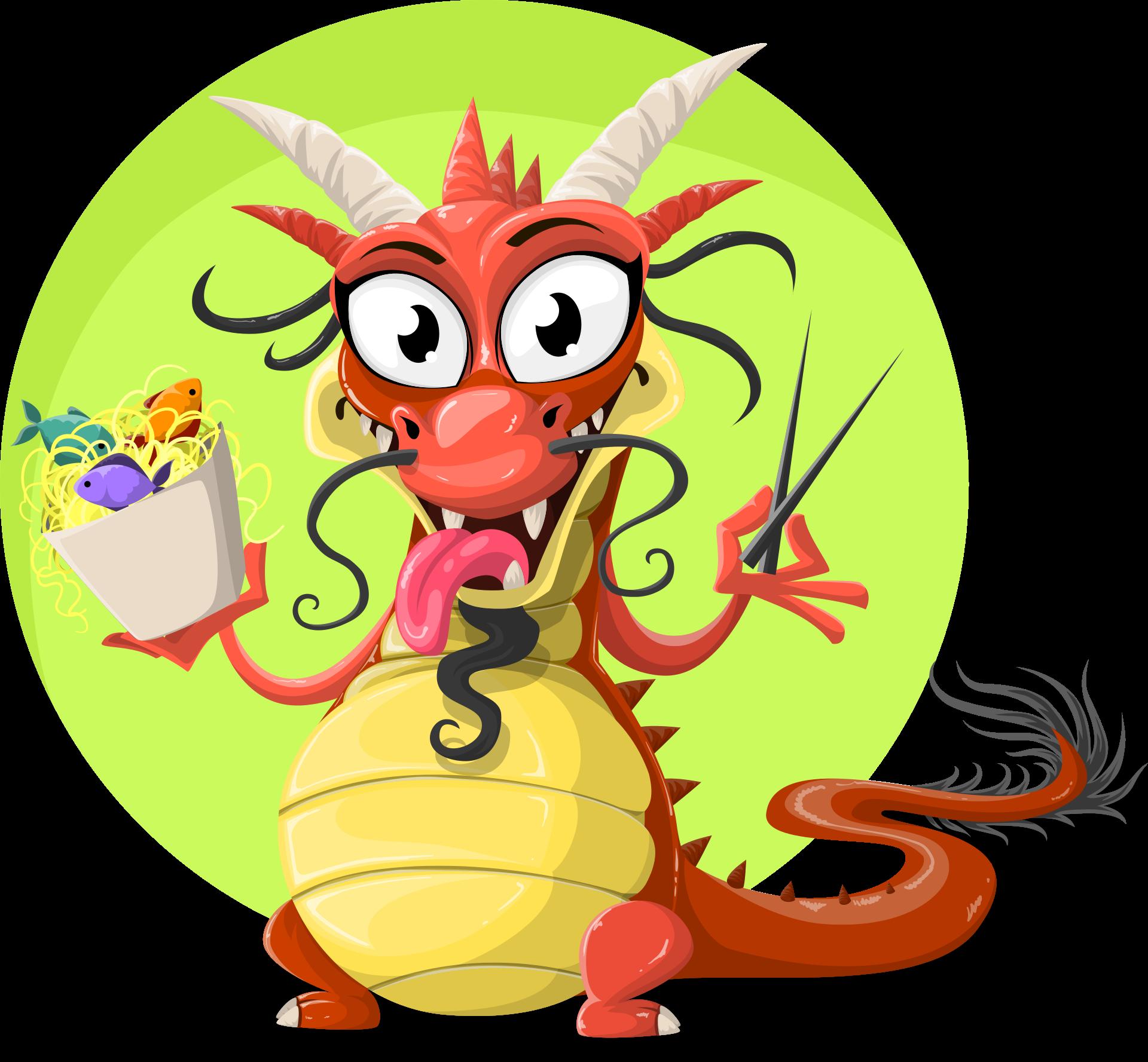dragón, chino, comida, fideos, pescado - Fondos de Pantalla HD - professor-falken.com