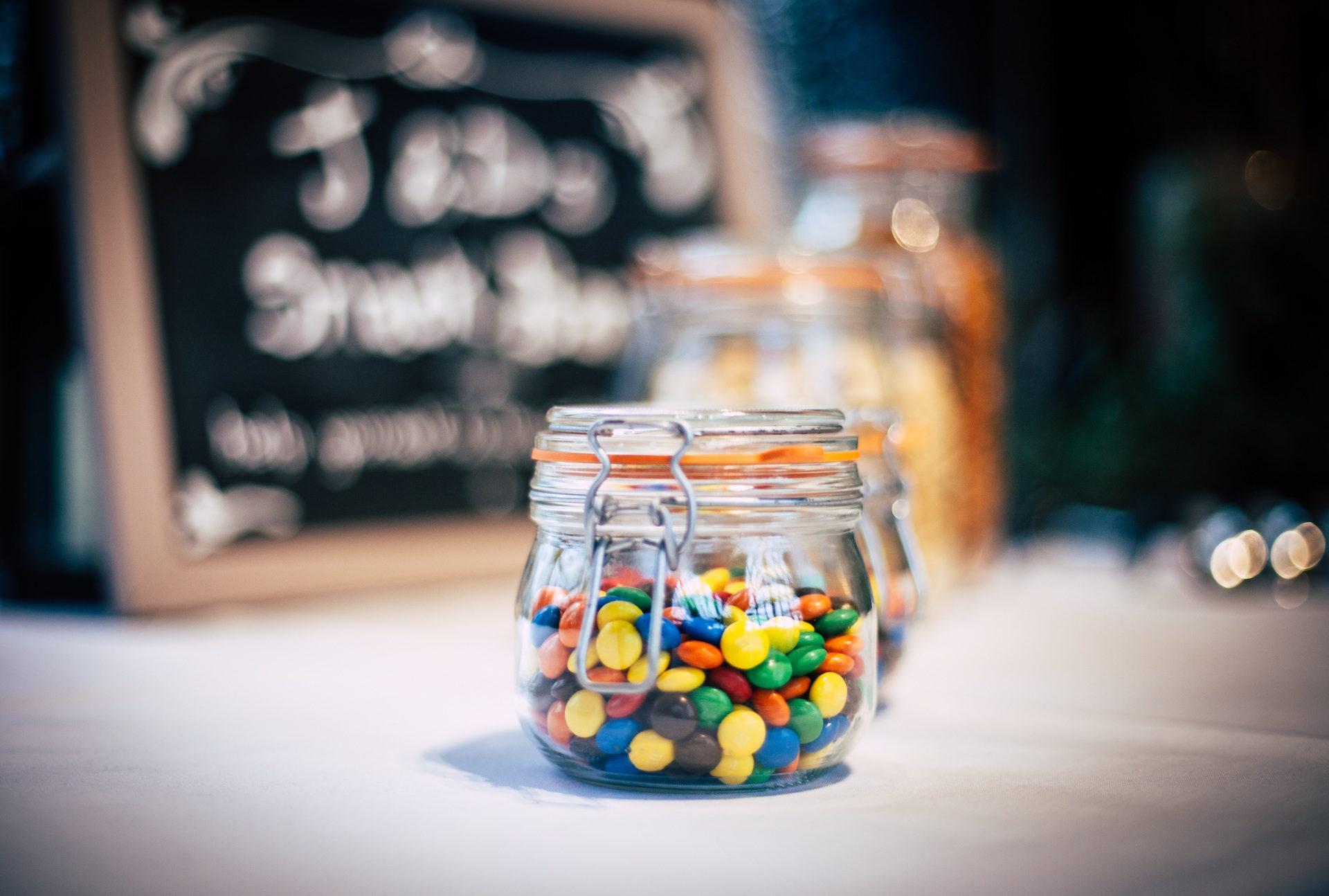 甘い, caramelos, キャンディ, jar, カラフルです - HD の壁紙 - 教授-falken.com