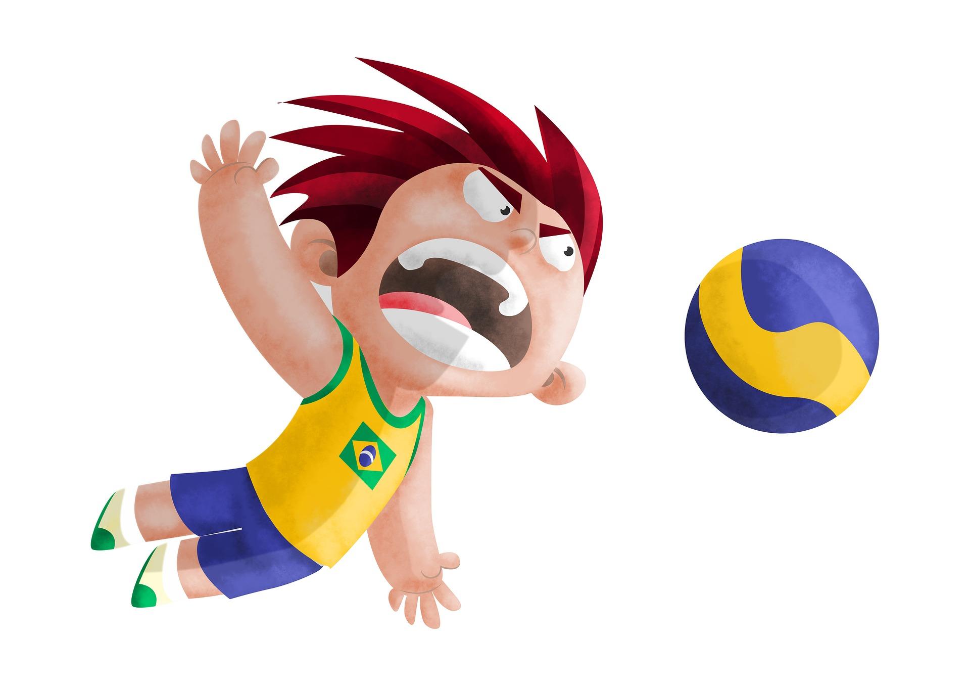 Volley-ball, Guy, Brésil, juegos olímpicos, Jeux olympiques - Fonds d'écran HD - Professor-falken.com