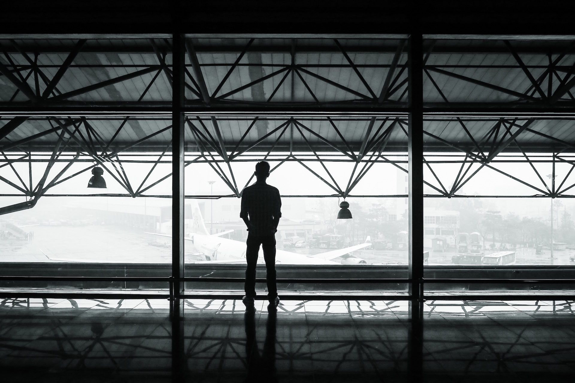 aeropuerto, viajero, espera, soledad, aviones - Fondos de Pantalla HD - professor-falken.com