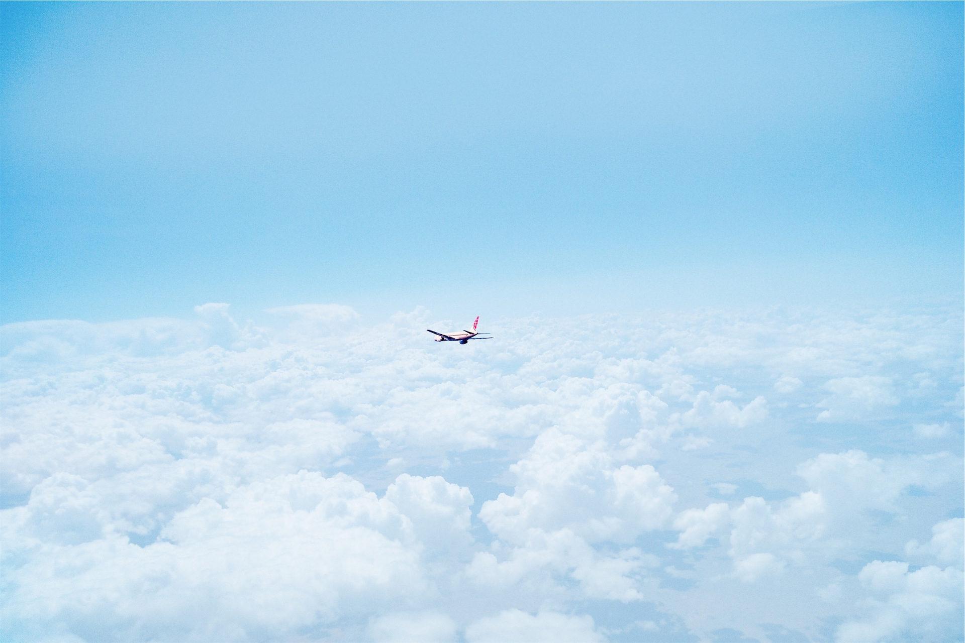 Flugzeug, Luft, Wolken, Himmel, Blau - Wallpaper HD - Prof.-falken.com