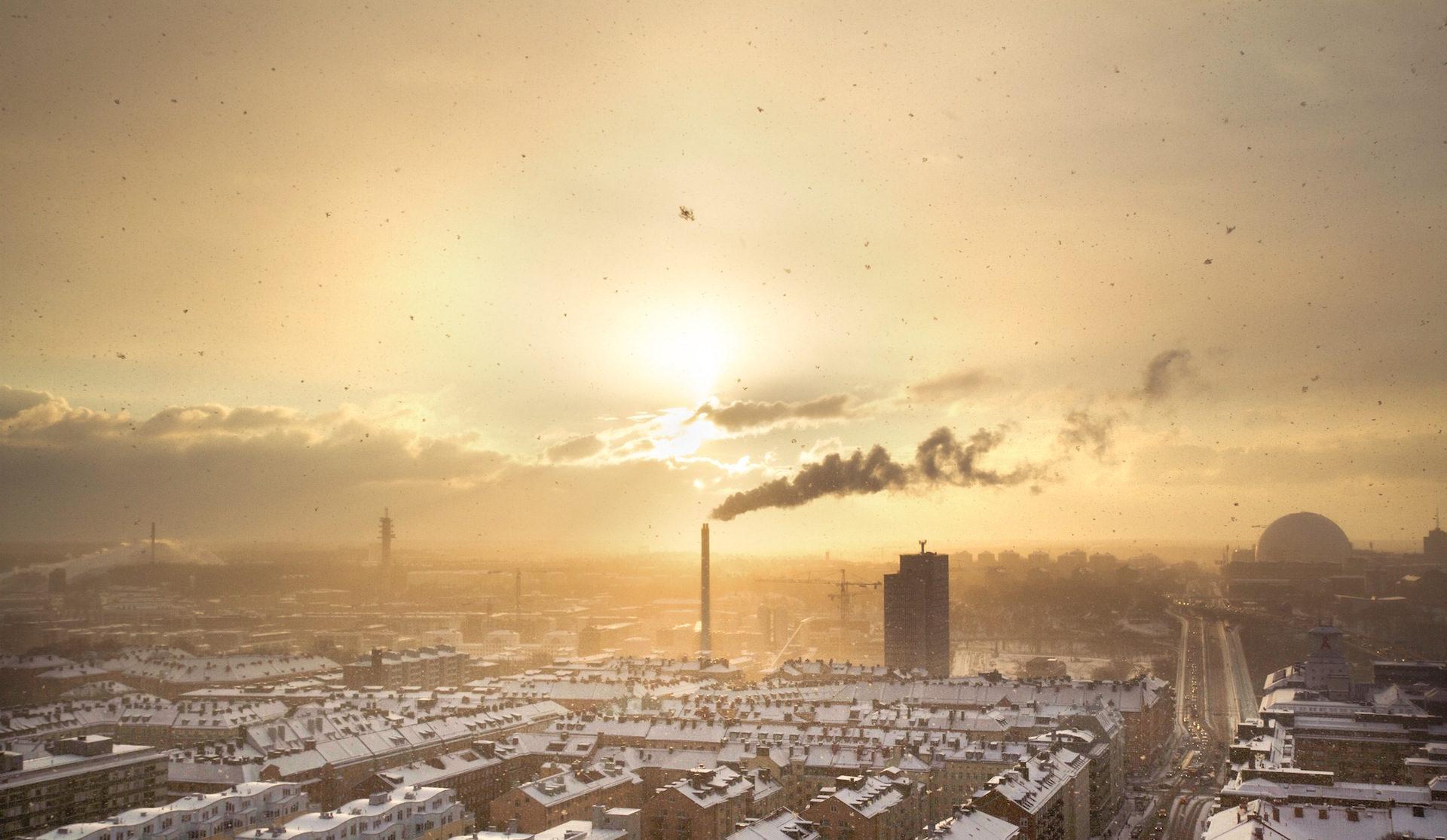 дым, облака, polución, contaminación, порошок - Обои HD - Профессор falken.com