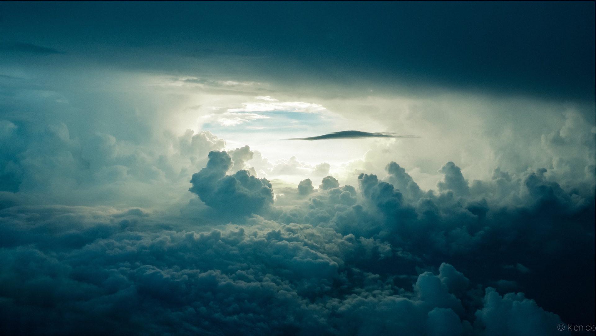 облака, Небо, Формы, Конечно, свет - Обои HD - Профессор falken.com