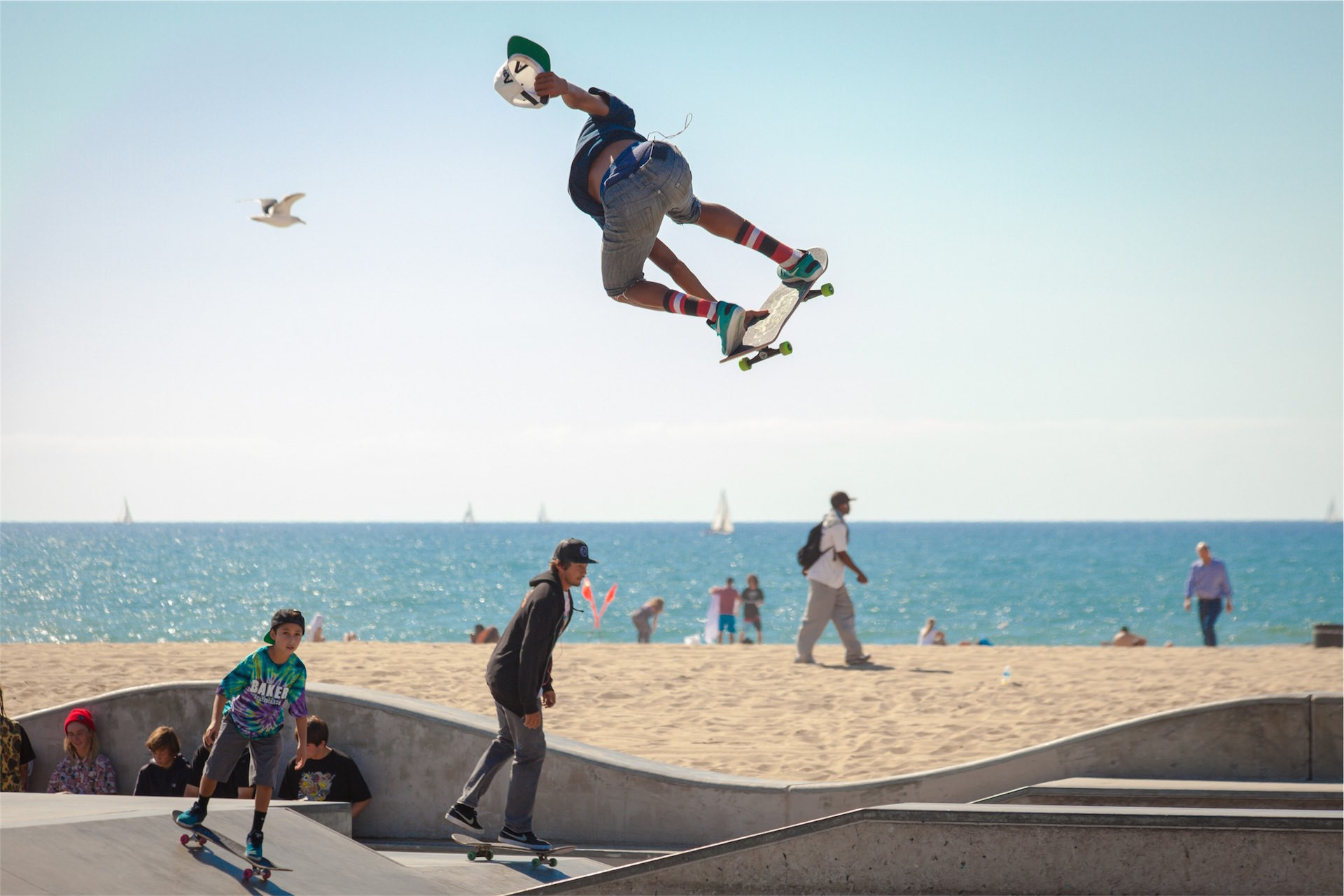 patinar, 滑冰, 海滩, 太阳, diversión - 高清壁纸 - 教授-falken.com