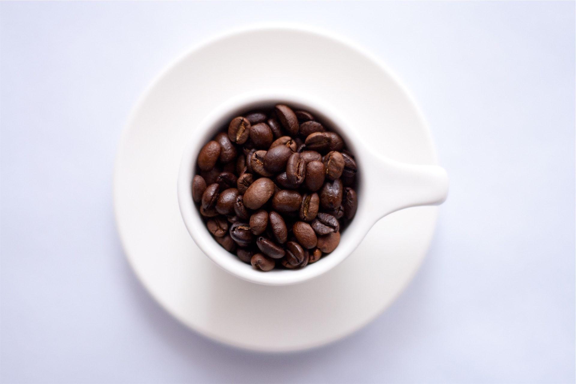 Coupe, café, grains de, plat, Blanc - Fonds d'écran HD - Professor-falken.com