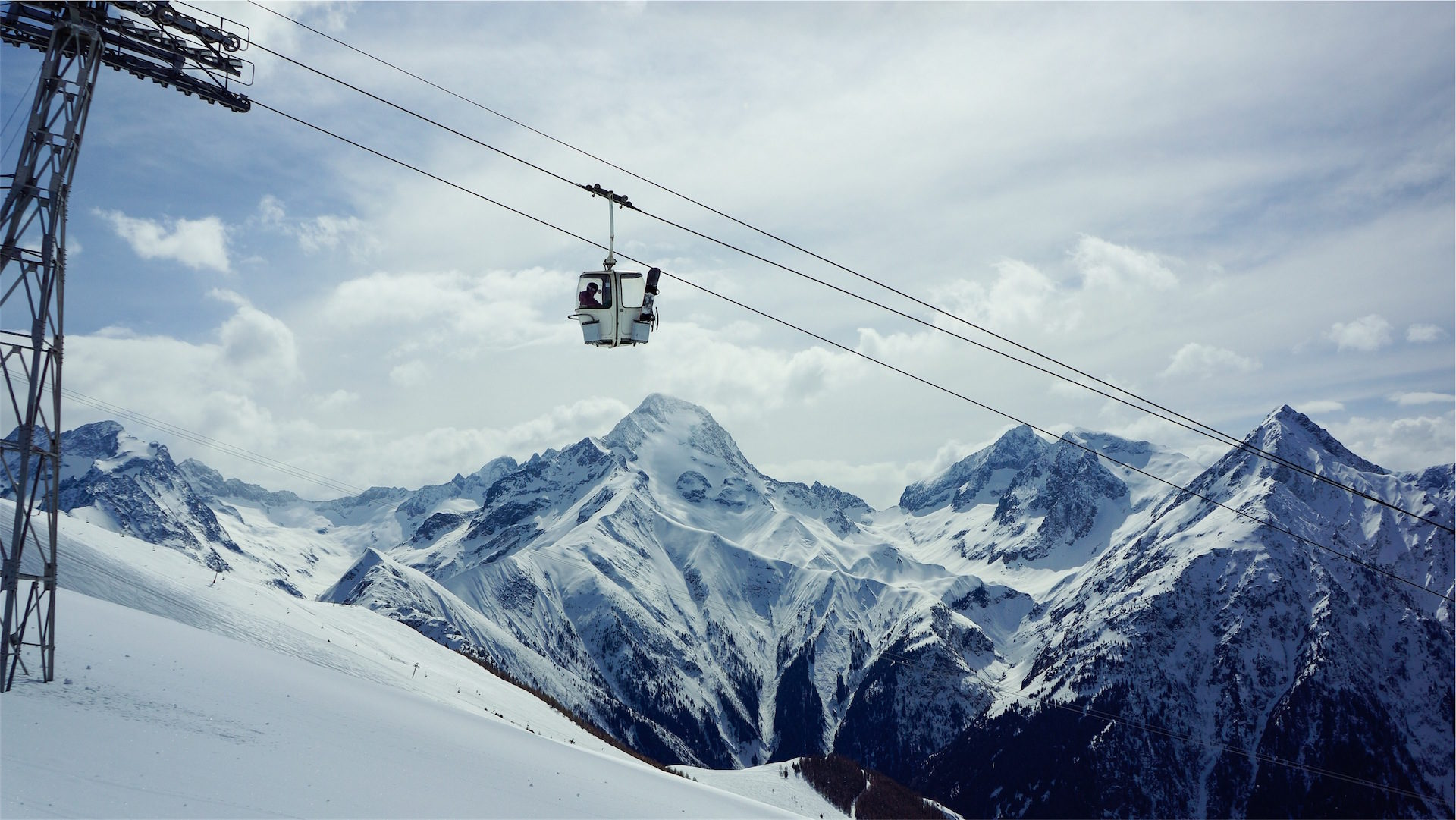 Seilbahn, Berg, Schnee, Pizza, Winter - Wallpaper HD - Prof.-falken.com