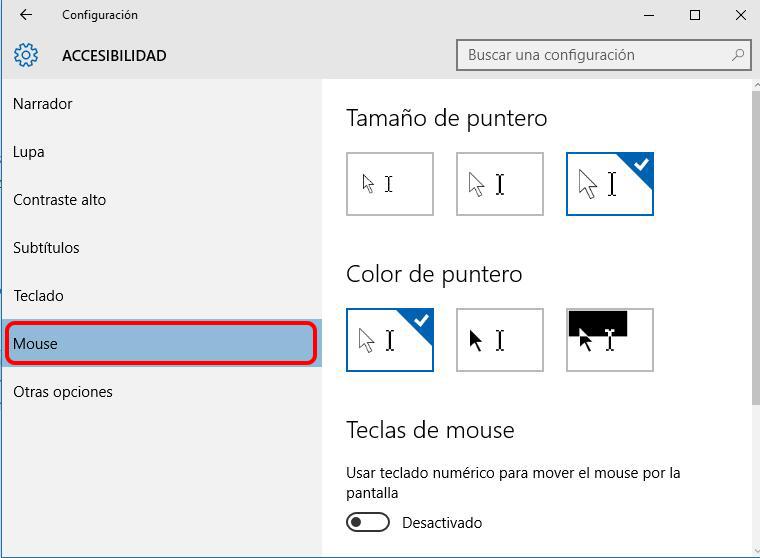 Comment changer la taille et la couleur de la souris dans Windows 10 - Image 2 - Professor-falken.com