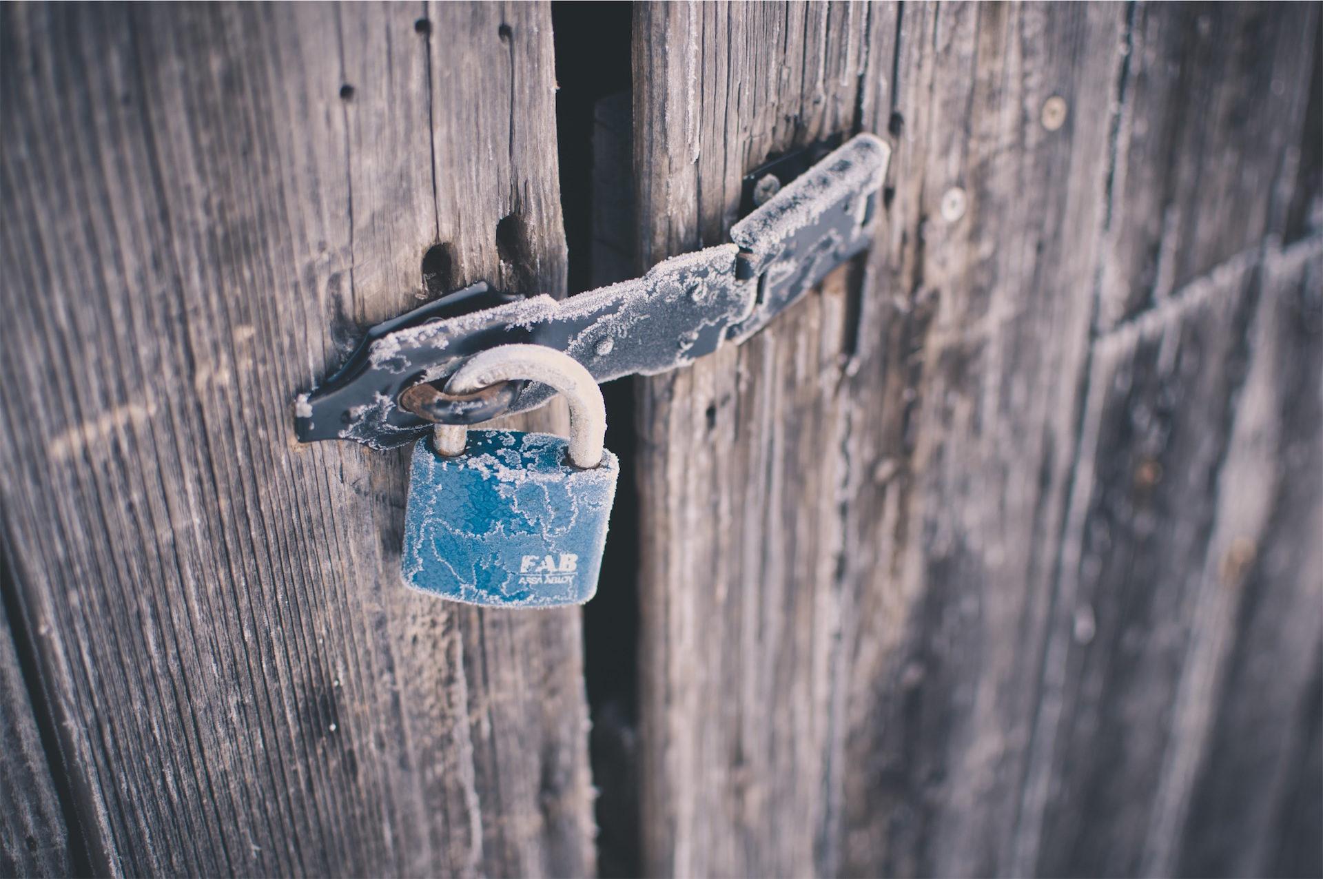 lucchetto, bullone, porta, vecchio, gelato - Sfondi HD - Professor-falken.com