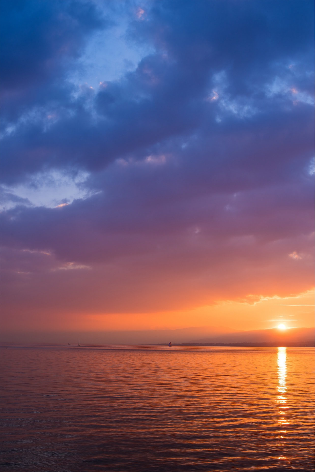 Небо, Закат, облака, красочные, Море - Обои HD - Профессор falken.com