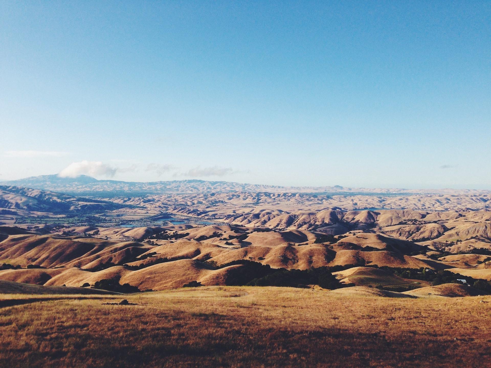 deserto, montañas, horizonte, Céu, nuvens - Papéis de parede HD - Professor-falken.com