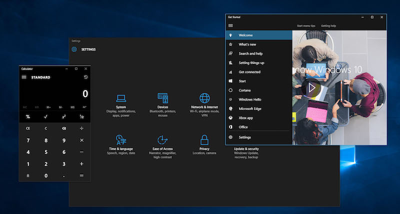 Πώς να ενεργοποιήσετε το σκοτεινό θέμα, ή σκοτεινό θέμα, στα Windows 10 - Εικόνα 1 - Καθηγητής-falken