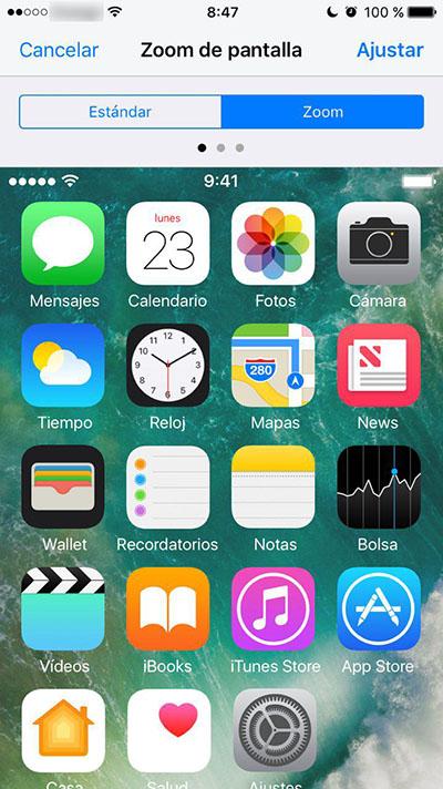 Cómo aumentar el tamaño de los iconos de tu iPhone - Image 4 - Professor-falken.com