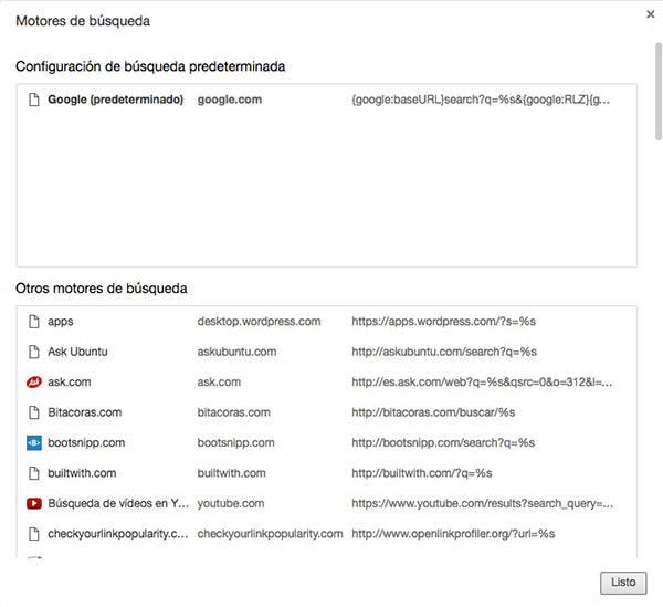 Cómo cambiar o añadir un nuevo motor de búsquedas en Chrome - Image 3 - professor-falken.com
