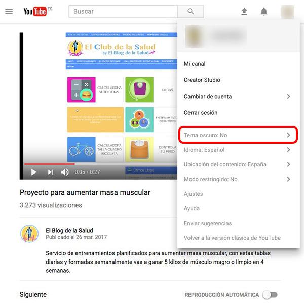 डार्क मोड को सक्रिय करने के लिए कैसे, या डार्क मोड, Youtube पर - छवि 3 - प्रोफेसर-falken.com