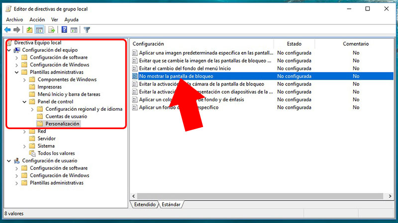 Como desativar o bloqueio de tela do Windows 10 - Imagem 3 - Professor-falken.com