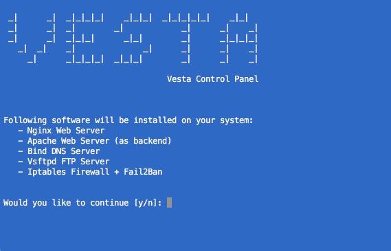 コントロール パネル ベスタを Linux にインストールする方法 - イメージ 2 - 教授-falken.com