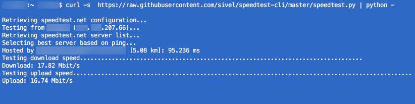 Linux、macOS のスクリプトの行から、インターネット接続の速度を測定する方法 - イメージ 1 - 教授-falken.com