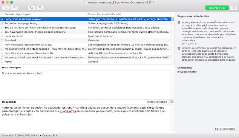 كيفية ترجمة ووكوميرسي, التجارة الإلكترونية وورد البرنامج المساعد, إلى الإسبانية - الصورة 2 - أستاذ falken.com