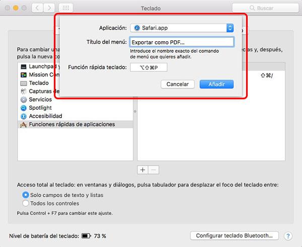 So fügen Sie eine Tastenkombination zu exportieren als PDF in Safari auf macOS - Bild 4 - Prof.-falken.com