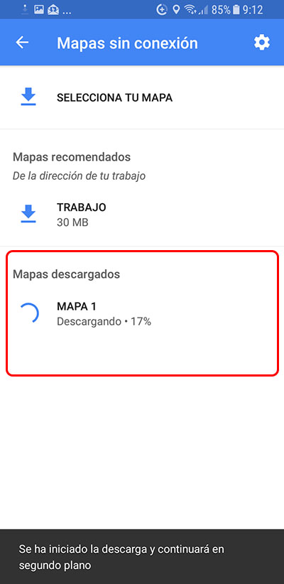 Cómo descargar los Mapas sin conexión de Google Maps en tu Android - Image 5 - professor-falken.com