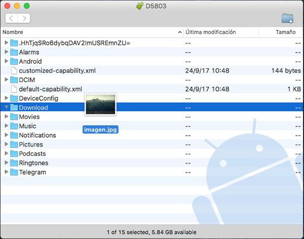 अपने Android फ़ोन और अपने मैक के बीच फाइल स्थानांतरण करने के लिए कैसे - छवि 5 - प्रोफेसर-falken.com