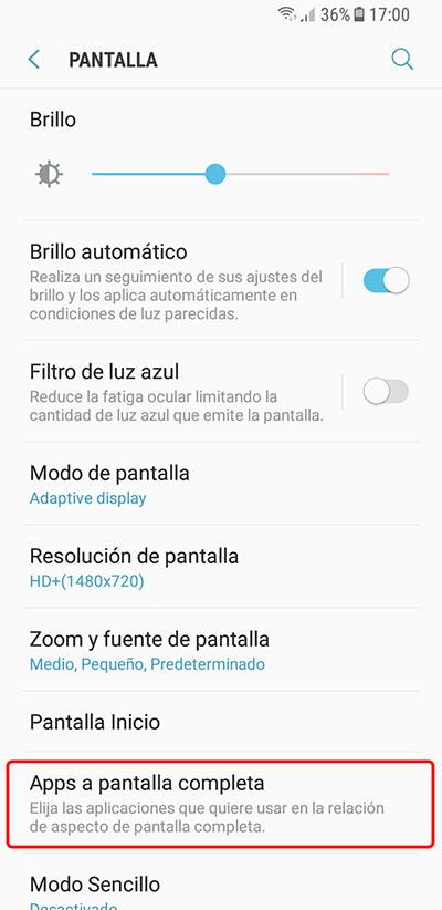 Cómo hacer que las aplicaciones se muestren a pantalla completa en tu Samsung Galaxy S8 - Image 2 - professor-falken.com